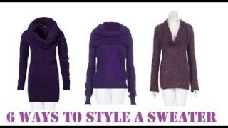 Fashion: 6 Ways to Wear a Sweater