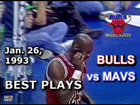 January 26 1993 Bulls vs Mavericks highlights