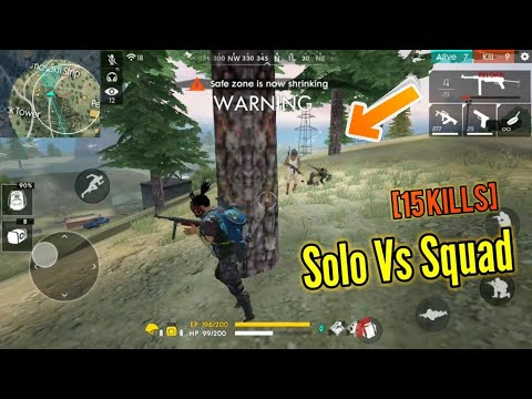 Insane Solo Vs Squad Game Pro Gameplay Garena Free Fire