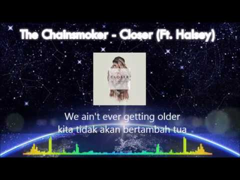 [Lyrics + Sub Indo] The Chainsmoker Ft  Halsey  -  Closer