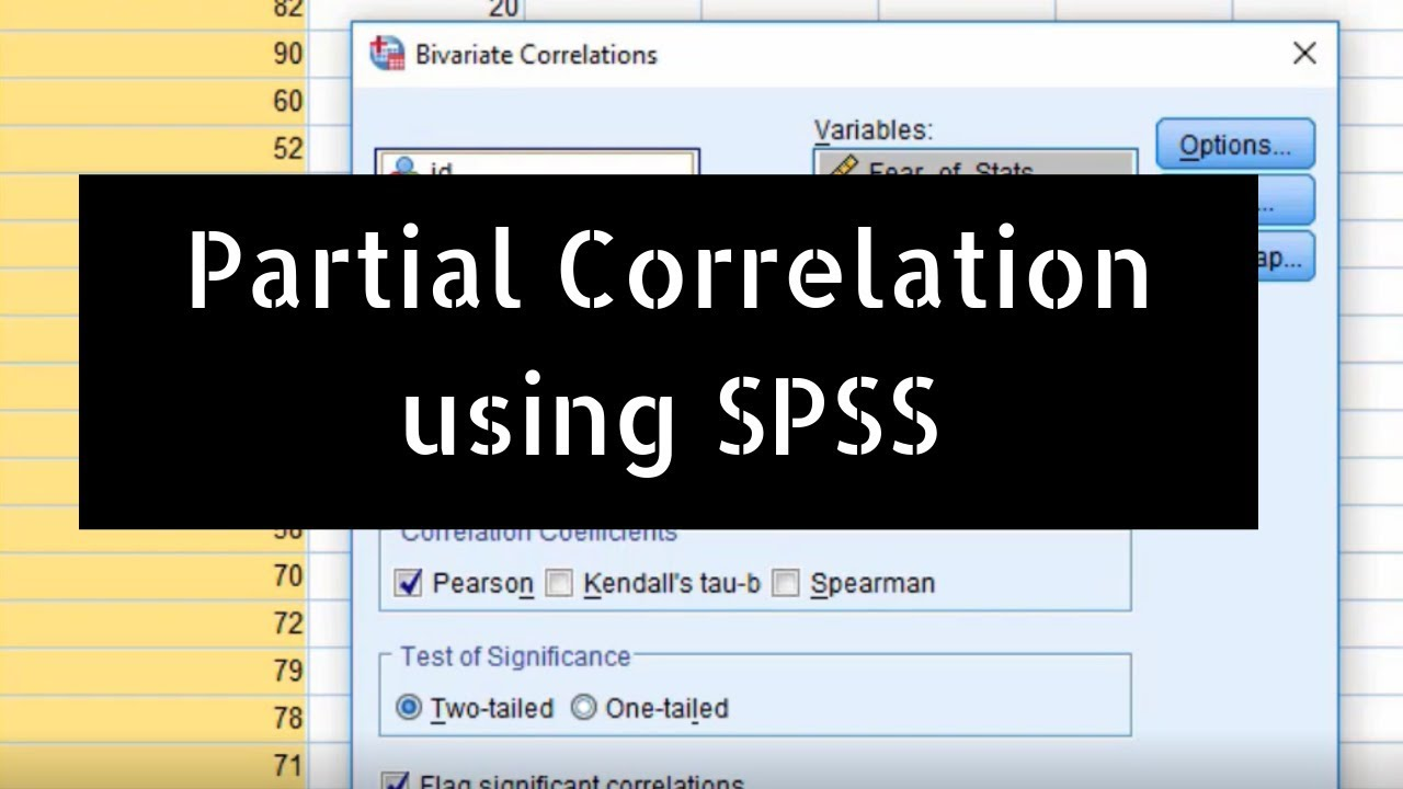 What is Partial Correlation and how to do it using SPSS? By G N Satish Kumar