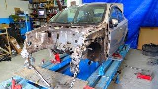 Chevrolet Aveo. повреждения. установка на стапель.(, 2016-07-24T15:56:26.000Z)