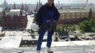 Мойка окон промышленными альпистами в Москве(, 2014-07-29T05:55:16.000Z)