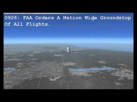 United Airlines Flight 93 Reconstruction with ATC Recording - September 11 2001