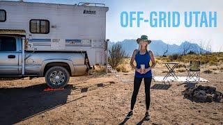 My OFF-GRID CAMP iฑ Utah! | Full Time Truck Camper Living | Overlanding | Van Life