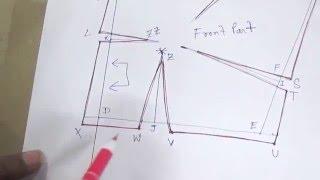 Plain Blouse /Drafting/Pattern//Cutting/Stitching part 1 of 8 hindi