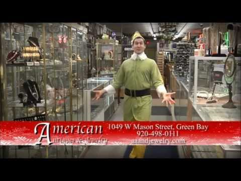 American Antiques and Jewelry Elf Christmas Commercial 15