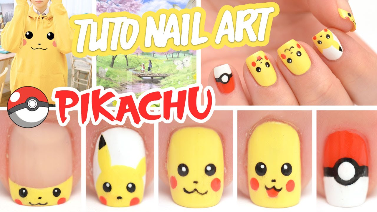 - Nail Art Pikachu ♡ Pokémon - YouTube