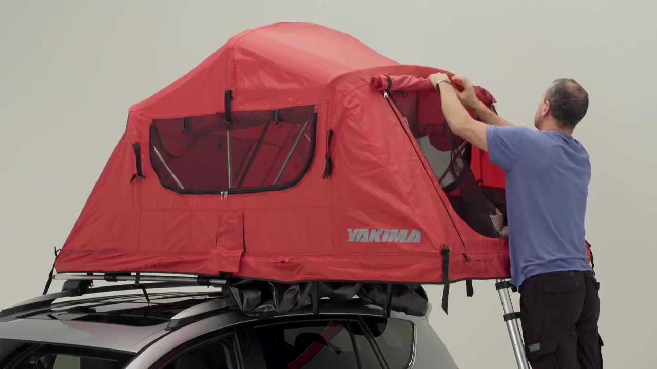Yakima SkyRise Rooftop Tent - Features u0026 Demonstration & Yakima SkyRise Rooftop Tent - Features u0026 Demonstration - YouTube