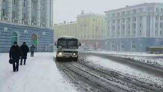 В Норильске выпал снег и похолодало.