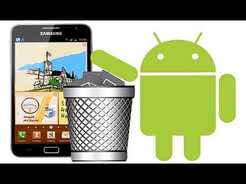 Android.de Silinmeyen uygulamaları silme 2015
