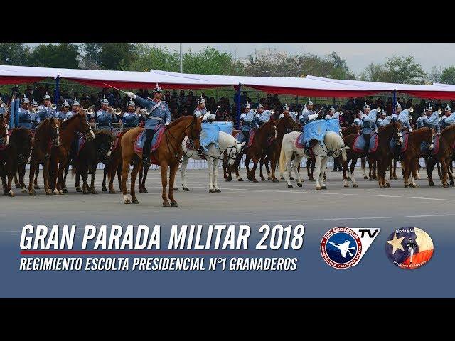 Regimiento Escolta Presidencial en Gran Parada Militar 2018 (Cámaras Fidaegroup) 9 de 9