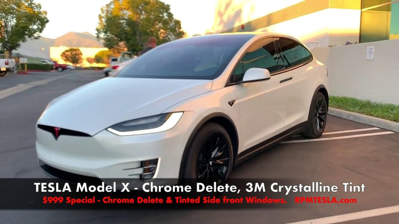 TESLA Model X Chrome Delete from RPM TESLA
