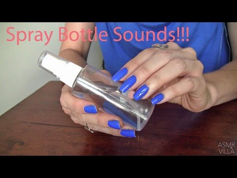 ASMR * Tapping & Scratching * Theme: Spray Bottle Sounds * Fast Tapping * No Talking * ASMRVilla