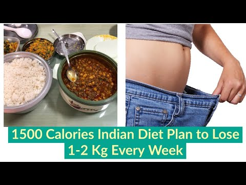 1500 Calories Indian Diet Plan To Lose Weight Fast | Lose Weight 1-2 Kgs  Every Week With Diet Chart