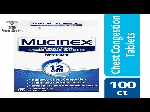 Chest Congestion Mucinex 12 Hour Extended Release Tablets 100ct 600 Mg Guaifenesin With Extended