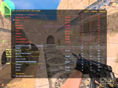 Reign Pubbing in Dust2 Counterstrike Condition Zero Part 1 of 4 Demo Via Fraps