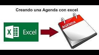 Como crear una Agenda en Excel Parte 1