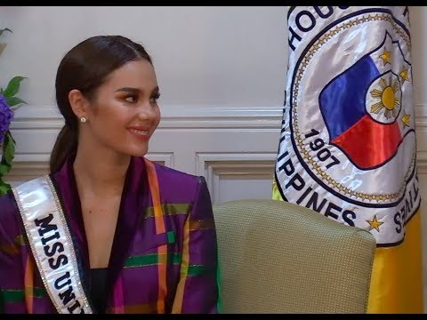 Catriona Gray lights up House of Representatives
