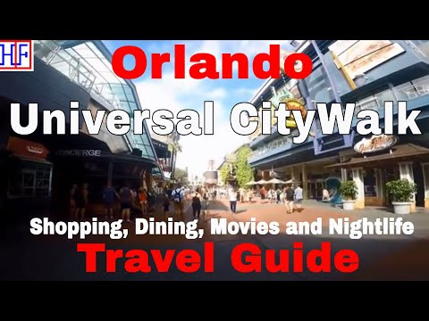 Orlando | Universal CityWalk - Shopping, Dining, Movies and Nightlife | Travel Guide | Episode# 15