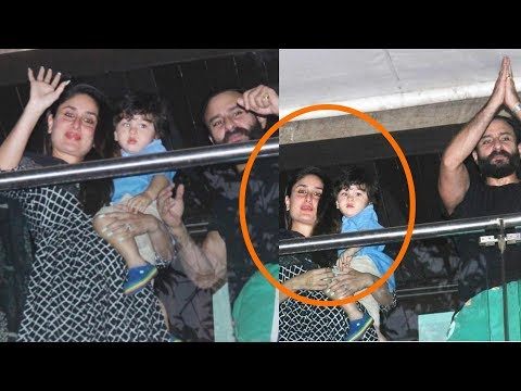 Kareena Kapoor got emotional on her birthday and comes in teary eyes with son Taimur and Saif