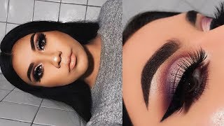 FULL FACE USING RECYCLED  MAKEUP?!! | KD Beauty