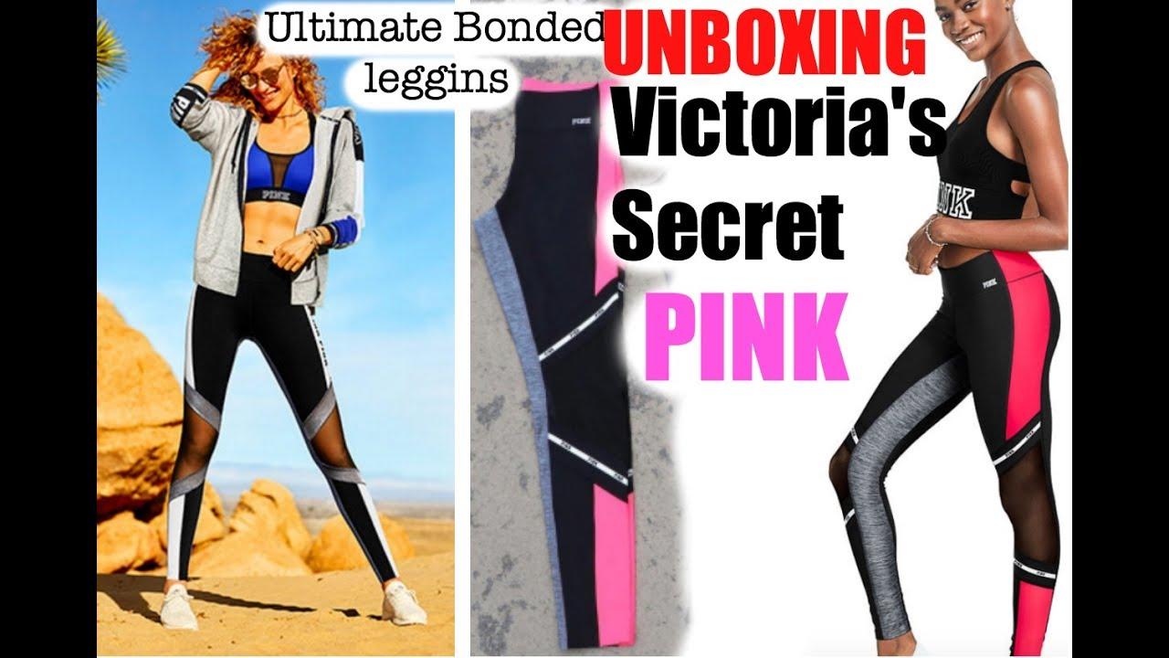 92f61726dcce68 Victoria's Secret Pink Ultimate BONDED Leggins unboxing - YouTube