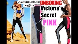 c365eac029c00 Victoria'S Secret Pink Ultimate Bonded Leggins Unboxing