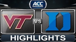 Virginia Tech vs Duke | 2014 ACC Basketball Highlights