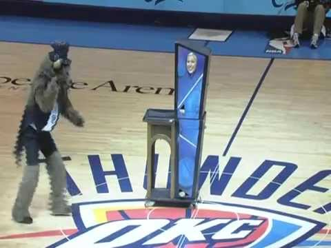The Magic of JP Wilson - Oklahoma City Thunder mascot Rumble cuts Maree in half!