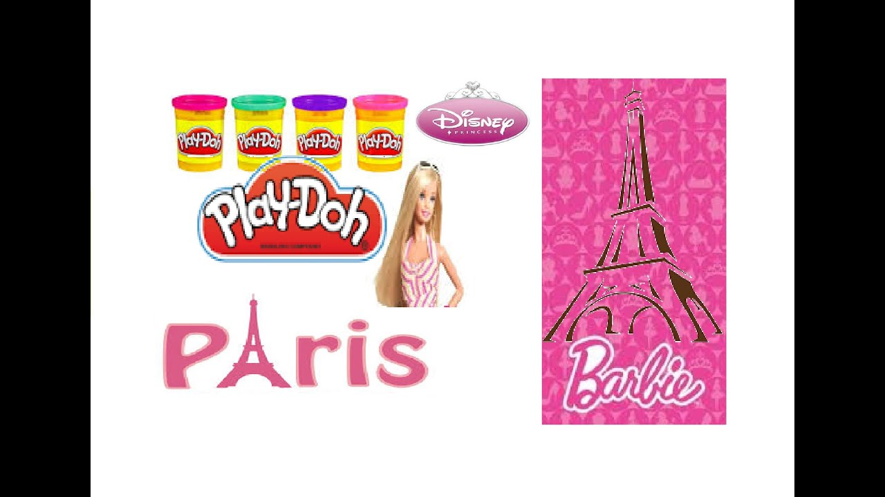 Learn Colors and Alphabet Letters with Barbie in Paris Play-Doh Fun ...