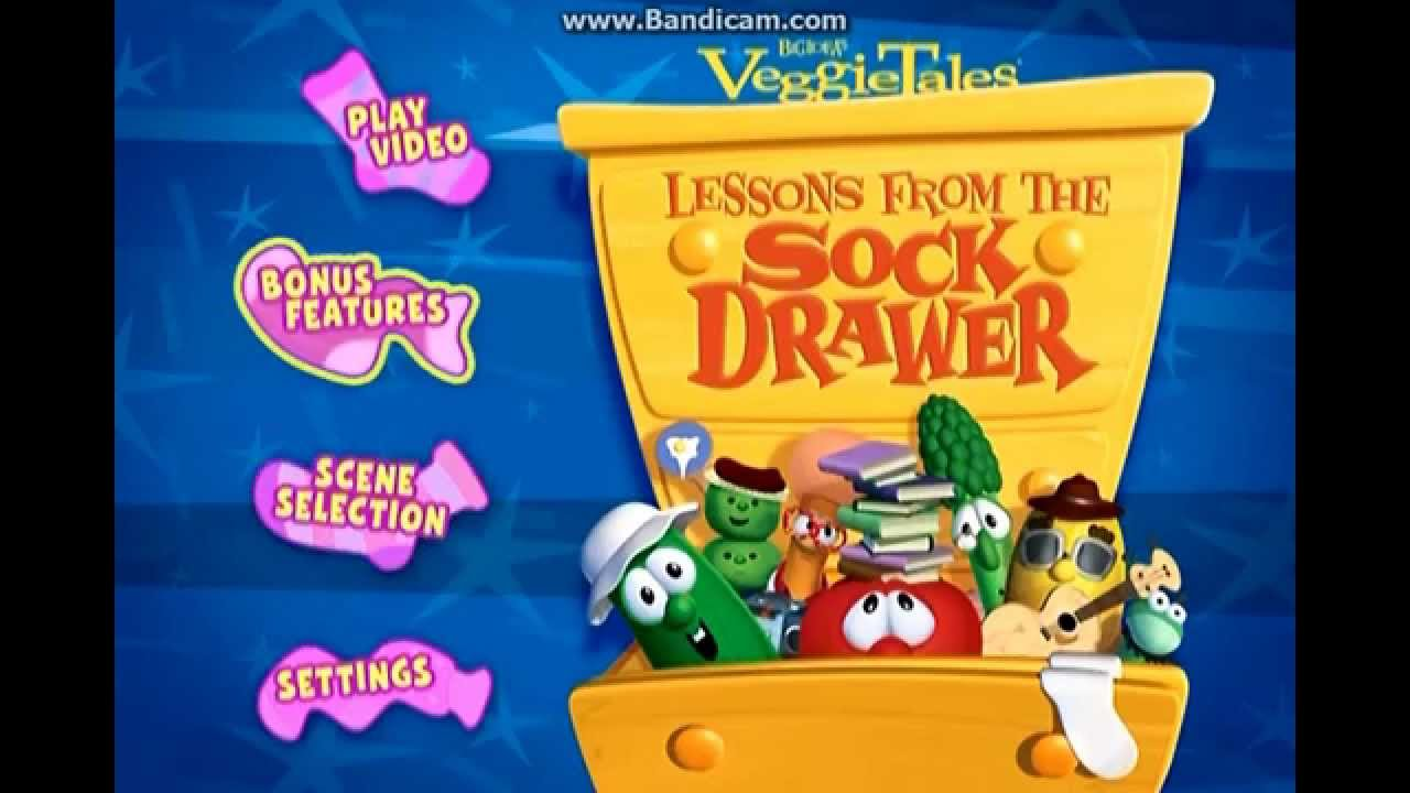 VeggieTales Lessons From The Sock Drawer DVD Menu - YouTube