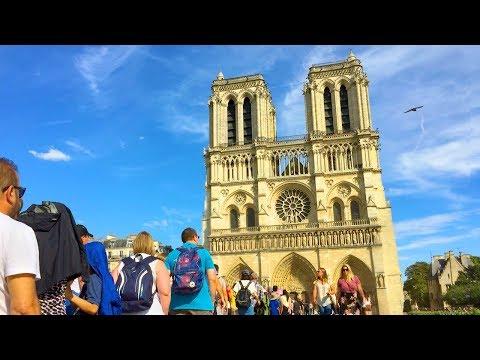 Paris Walk - NOTRE-DAME CATHEDRAL Surroundings - France