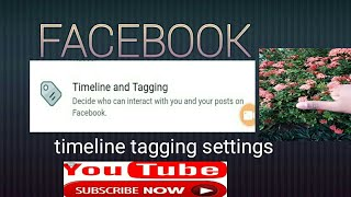 Facebook timeline tagging settings