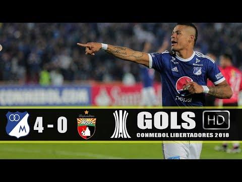 Millonarios 4x0 Deportivo Lara - Gols / Libertadores 2018