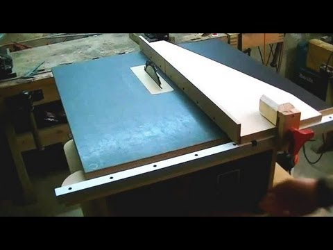 My Homemade Table Saw 1  YouTube