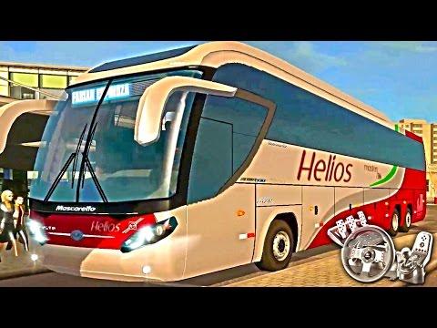 Euro Truck Simulator 2 - EAA Bus - Helius Mascarello Roma 370 - Matei uma família - Com Logitech G27