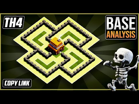 NEW Ultimate TH4 HYBRID/TROPHY[defense] Base 2020!!  Town Hall 4 Hybrid Base Design - Clash Of Clans