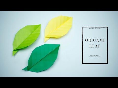 Origami Leaf Making Tutorial ( Origami Leaf ) -DIY