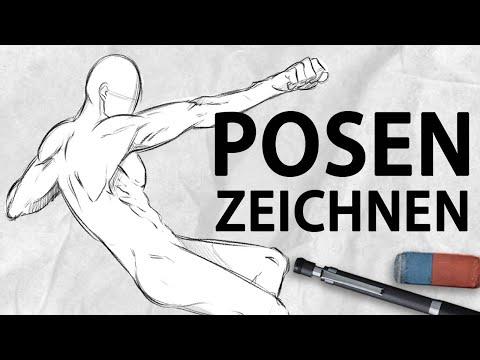 Posen Zeichnen [Für Anfänger] | Drawinglikeasir