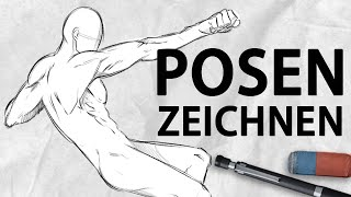 Drawing Poses FOR BEGINNERS [Tutorial] | Drawinglikeasir (German)