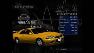 Metropolis Street Racer (Dreamcast) - Car List