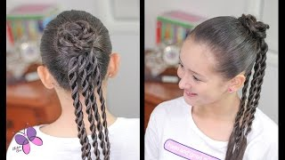 Flower and Twists | Easy hairstyles | Hairstyles for School | Braided Hairstyles | Chikas Chic