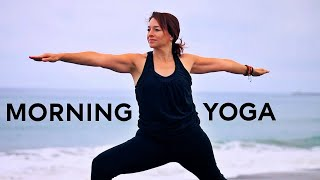 Video 33 Minute Morning Yoga for Energy and Strength With Fightmaster Yoga download MP3, 3GP, MP4, WEBM, AVI, FLV Maret 2018