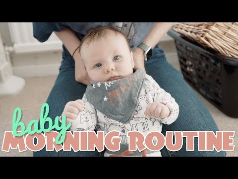 Morning Routine with a 3 Month Old Baby // The Oxleys Daily