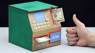 How to make ATM Piggy Bank - Mini ATM Machine