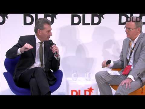 European Digital Framework (Günther Oettinger, European Commission & Ulrich Reitz) | DLD15