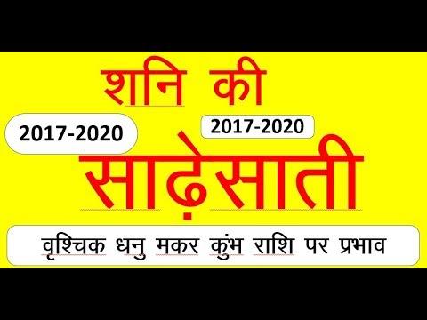 SHANI SADE SATI 2017 TO 2020 IN HINDI