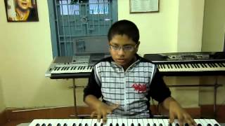 new telugu song shankarabharanam tho from iddarammayalatho on keyboard