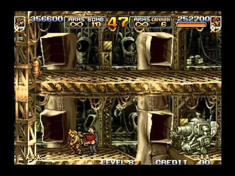 Metal Slug 5 Two-Player Run Level-8